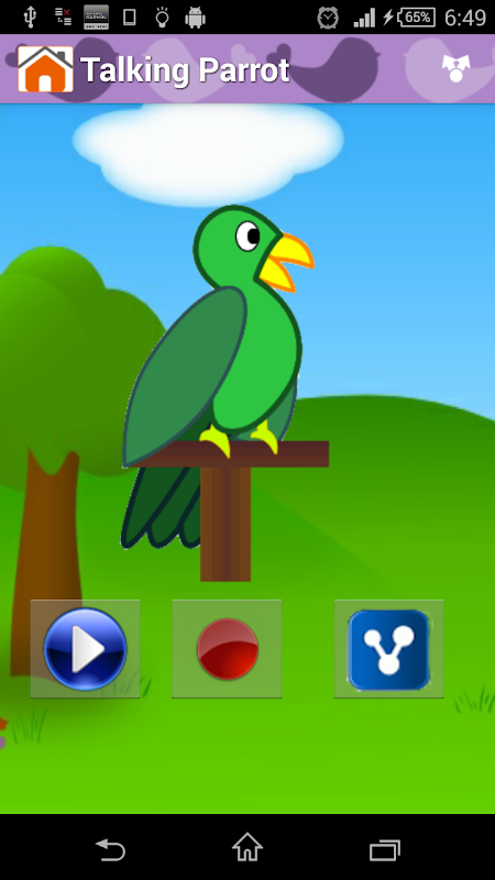 Android Animal Sounds & Talking Parrot Screen 5