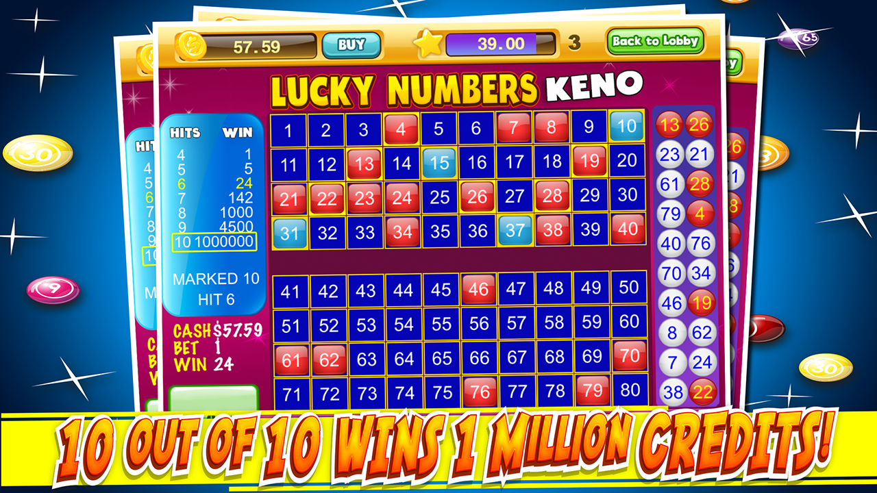 Android Las Vegas Keno Numbers Free Screen 10