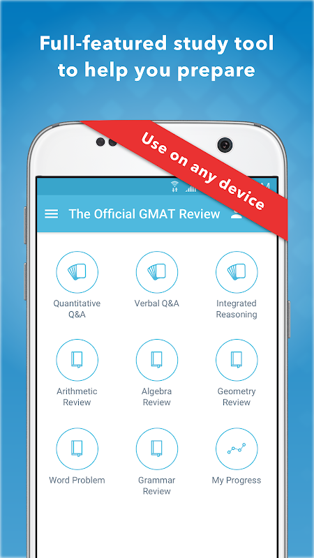 Android Official Guide for GMAT Review Screen 4