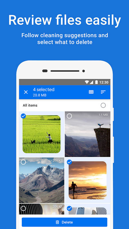 Files by Google: Clean up space on your phone 1.0.224103129 Screen 1