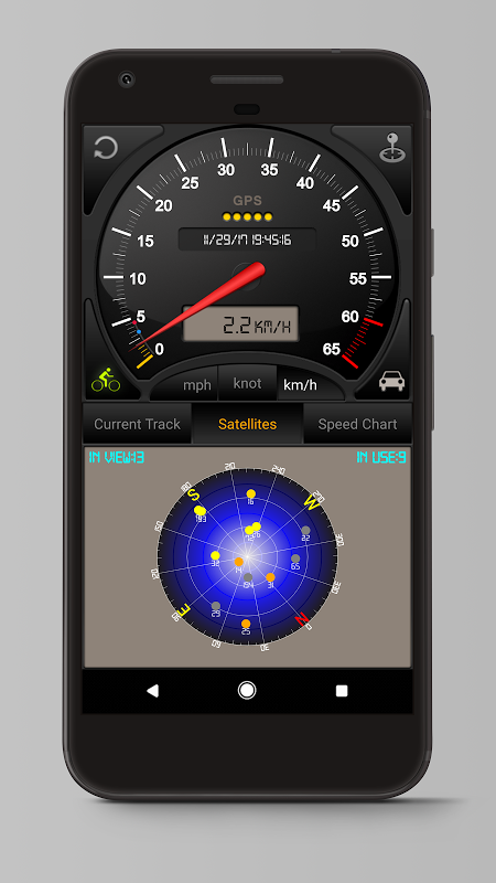 Android Speedometer GPS Pro Screen 5