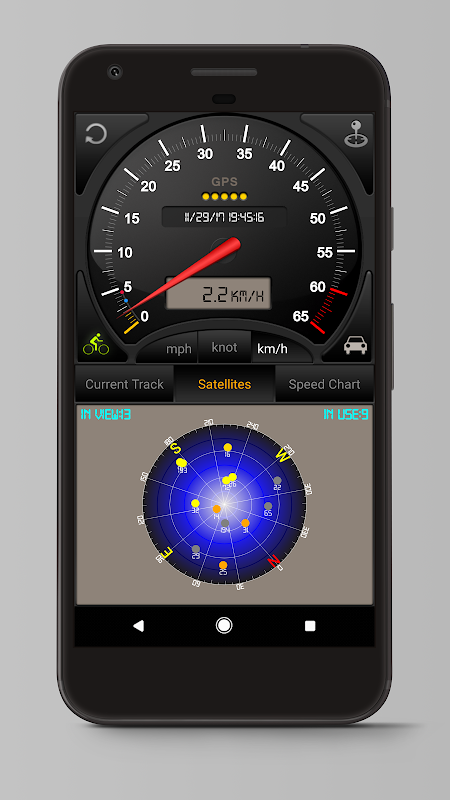 Android Speedometer GPS Pro Screen 2