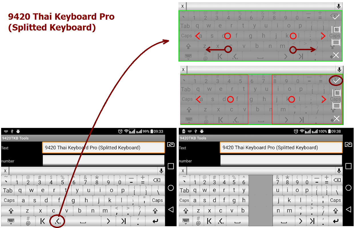 Android 9420 Thai Keyboard Pro Screen 1