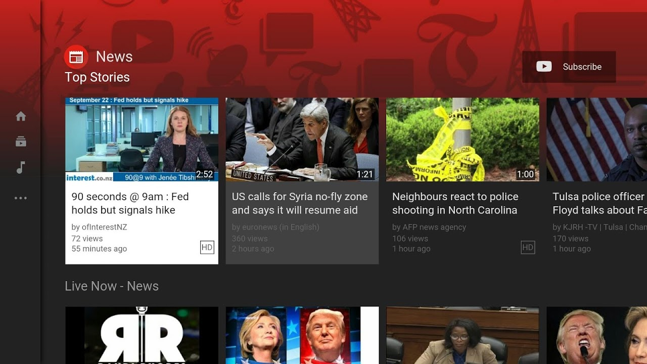 Android Smart YouTube TV Screen 1