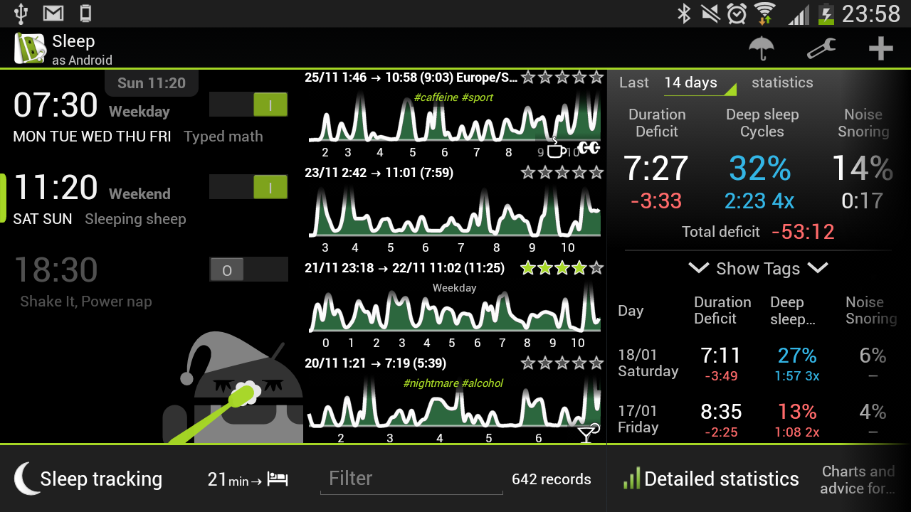 Android Sleep as Android Screen 3