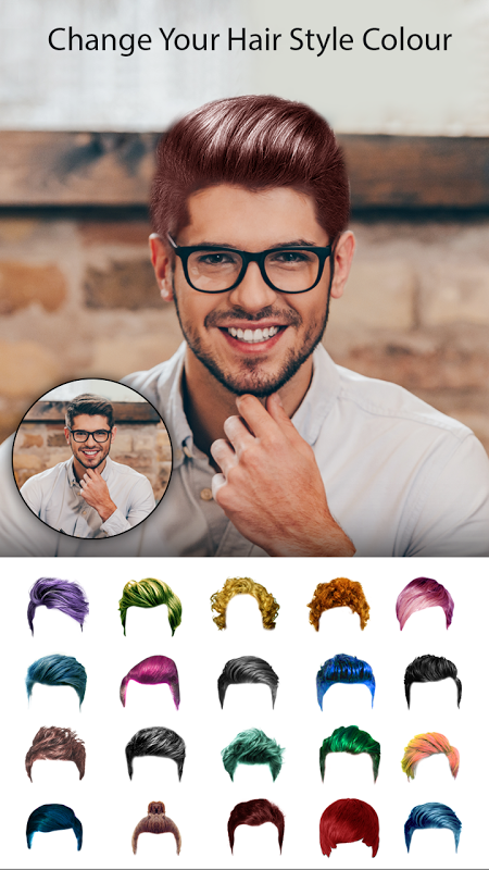 Man Photo Editor : Man Hair style ,mustache ,suit 1.2 Screen 9