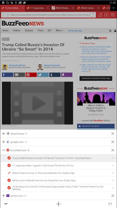 Android Aon Browser, Adblock Mini Screen 13