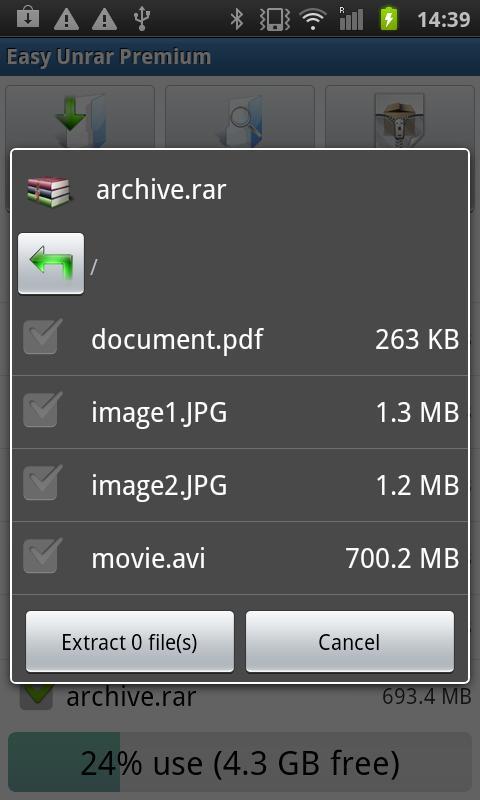 Easy Unrar, Unzip & Zip 3.4 Screen 2