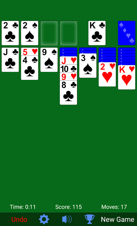 Solitaire 3.3.3 Screen 1