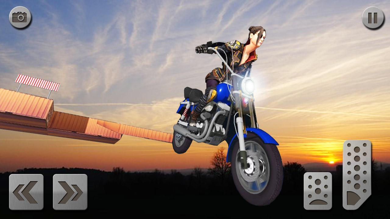 Android Impossible Mega Ramp Moto Bike Rider: Superhero 3D Screen 6