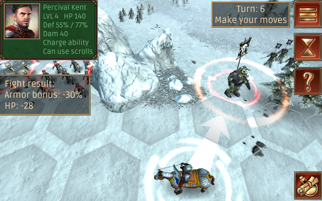 Android Hex Commander: Fantasy Heroes Screen 19