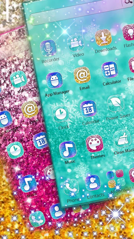 Android Colorful Glitter Dreamy Theme Screen 1