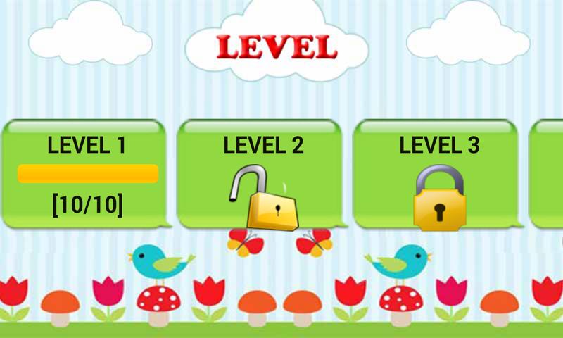 Android Birds Quiz Screen 1