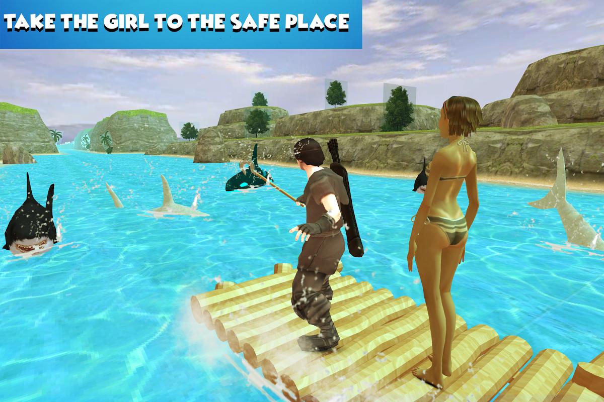 Android Ocean Raft Survival Screen 1