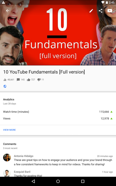 YouTube Creator Studio 1.8.4 Screen 6
