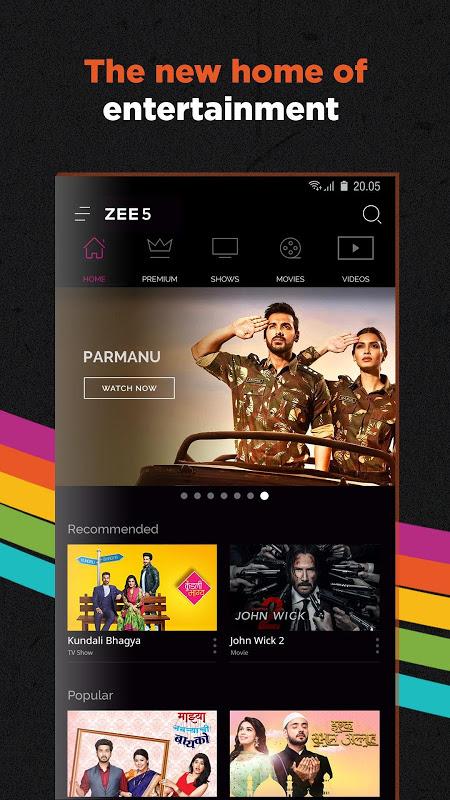 ZEE5 - Movies, TV Shows, LIVE TV & Originals 15.22.32 Screen 1