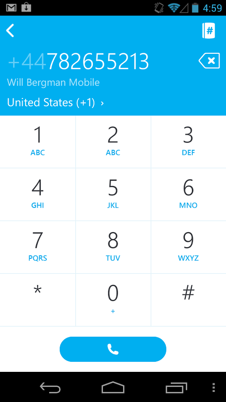 Android Skype Screen 12