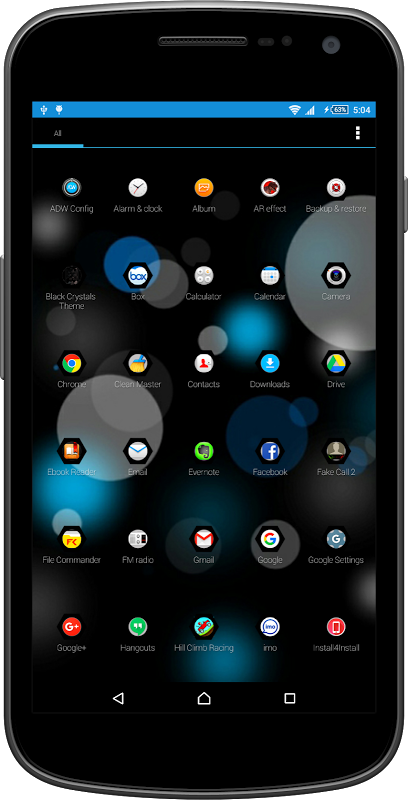 Black Crystal Theme & Launcher 1.0 Screen 1