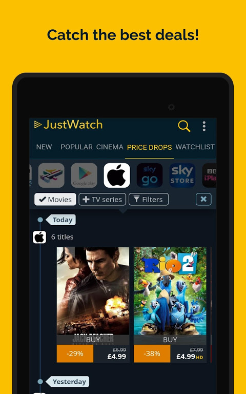 JustWatch - Search Engine for Streaming and Cinema 0.24.58 Screen 22