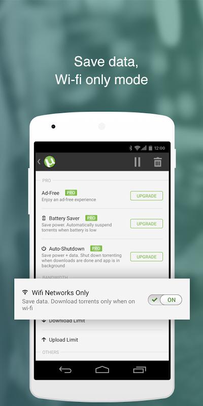 Android ŒµTorrentŒ¬- Torrent Downloader Screen 2