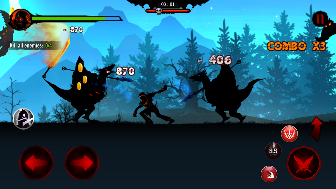 Android Shadow Stickman: Dark rising – Ninja warriors Screen 9