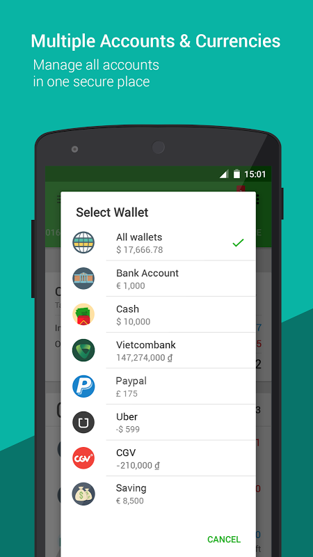 Android Money Lover - Money Manager Screen 1