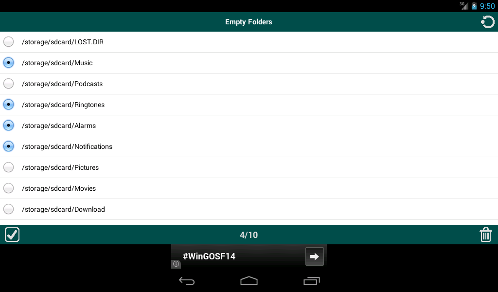 Android Folder Cleaner Screen 1