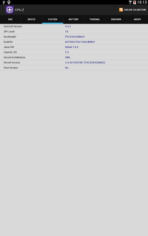 CPU-Z 1.32 Screen 9
