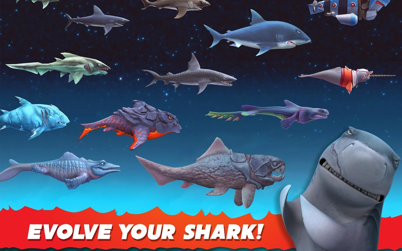 Android Hungry Shark Evolution (Mod) Screen 2