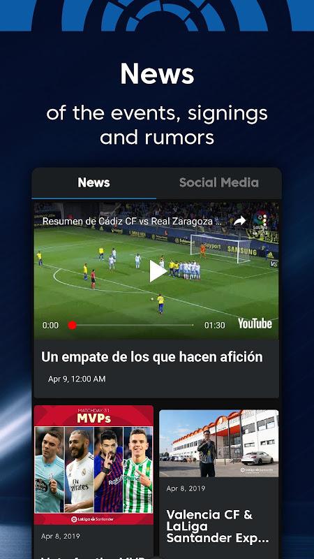La Liga - Spanish Football League Official 7.3.8 Screen 1
