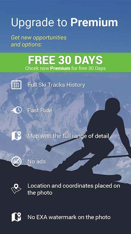 Android Snow Tracker Screen 1