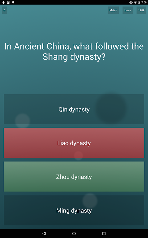 Android General Knowledge Quiz Screen 8