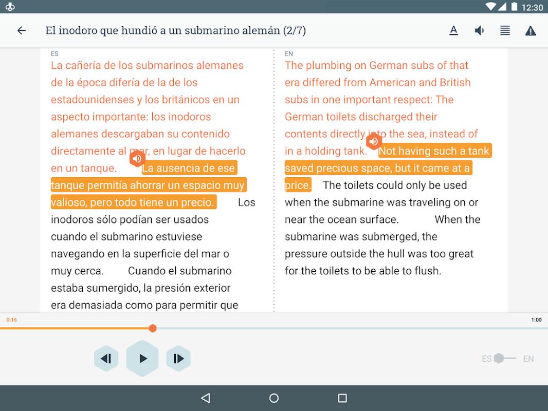 Beelinguapp: Learn a New Language with Audio Books 2.294 Screen 5