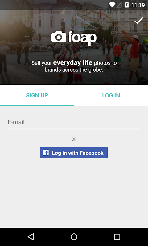Android Foap - sell your photos Screen 3
