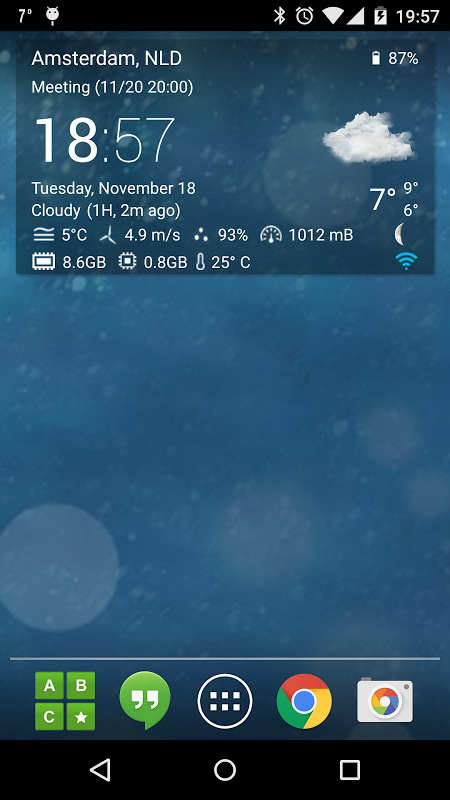 Transparent clock weather Pro 0.99.02.39 Screen 2