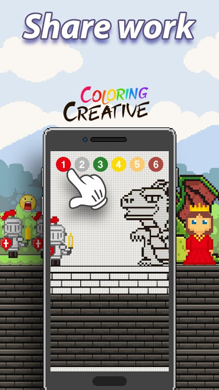 Android Coloring Creative - Color by Numbers & Pixel Art Screen 3