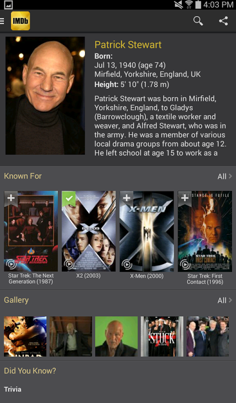 Android IMDb Movies & TV Screen 8