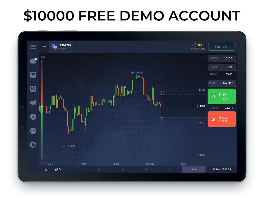 IQ Option broker: trade forex, CFD�s, bitcoin 5.20.0 Screen 8
