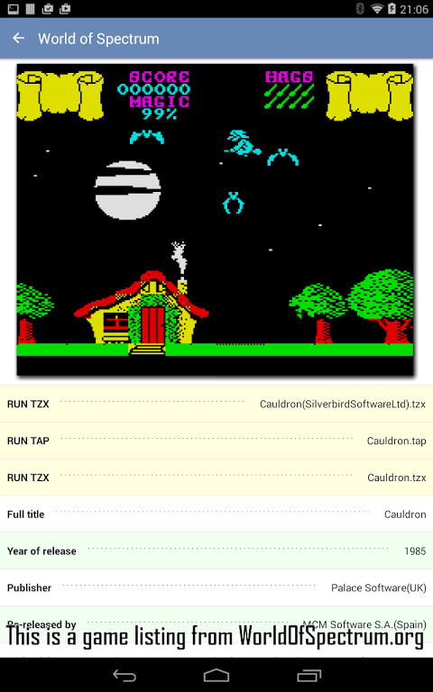 Android Speccy - ZX Spectrum Emulator Screen 21