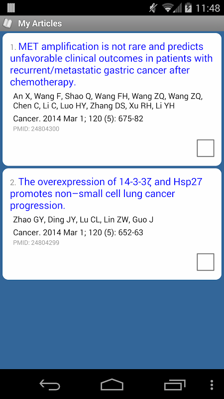 Android PubMed Mobile Screen 2