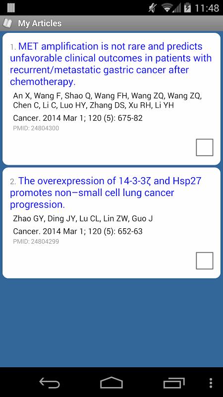PubMed Mobile 2.1 Screen 2