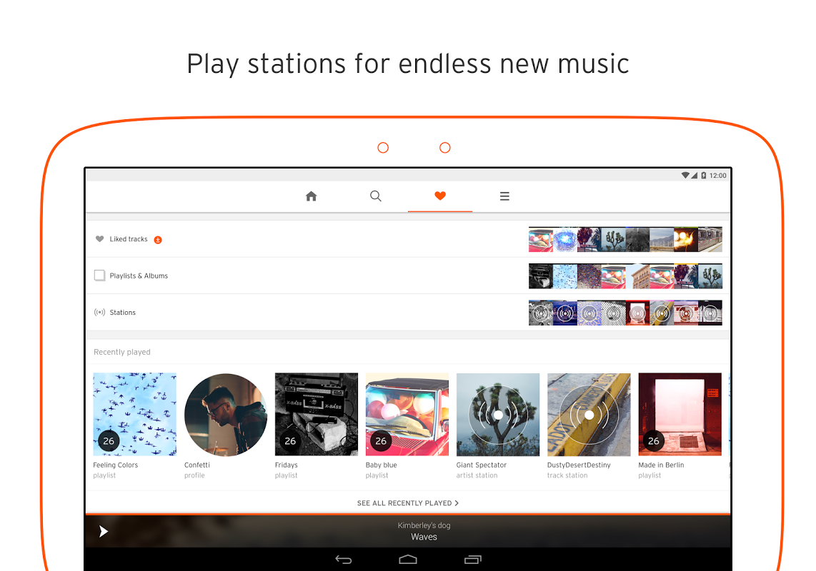 Android SoundCloud - Music & Audio Screen 1