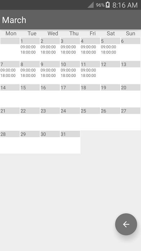 Time Card Lite 2.6.7 Screen 4