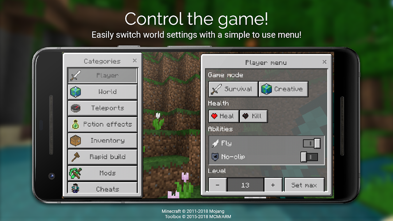 Android Toolbox for Minecraft: PE Screen 1