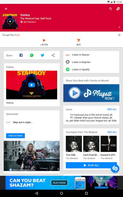Android Shazam Screen 10