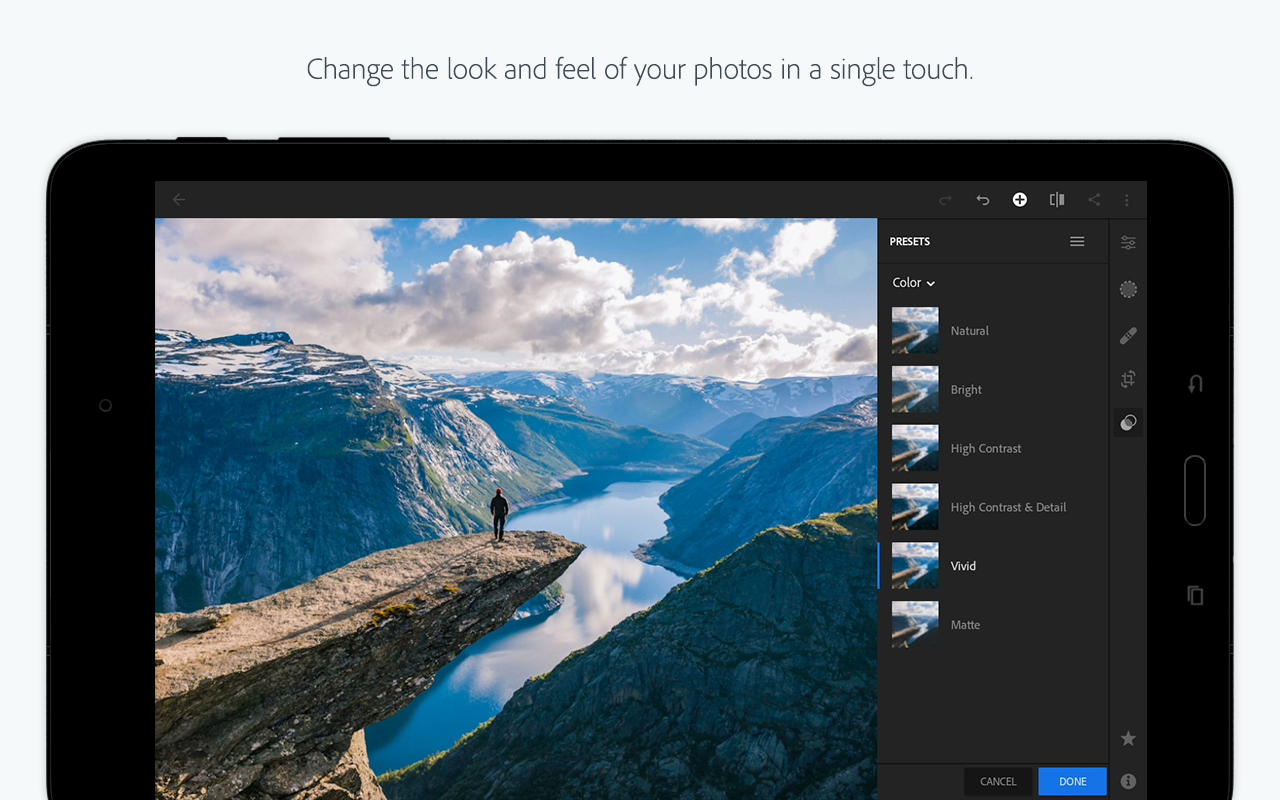 Android Adobe Photoshop Lightroom CC Screen 8