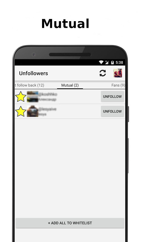 Unfollowers for Instagram 2.6.9 Screen 3