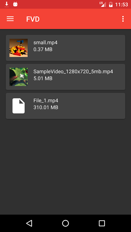 Android FVD - Free Video Downloader Screen 3