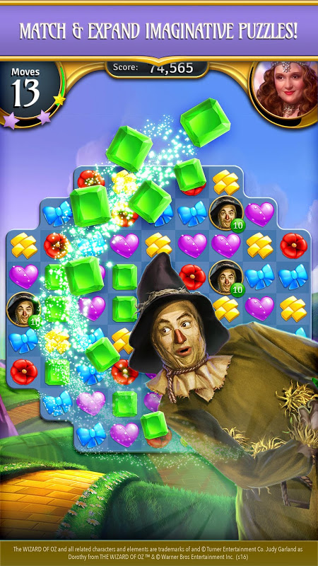 Android The Wizard of Oz Magic Match 3 Screen 2