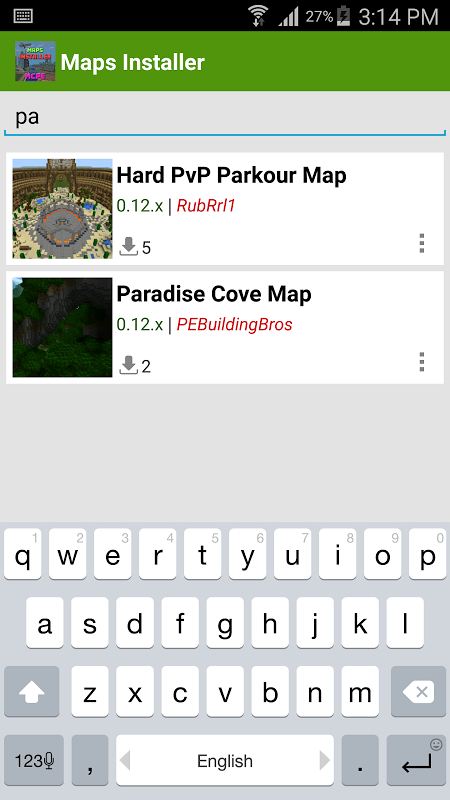 Maps Installer for MCPE APKs | Android APK